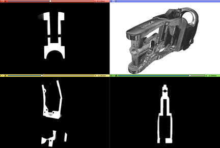 CT scanned metal part